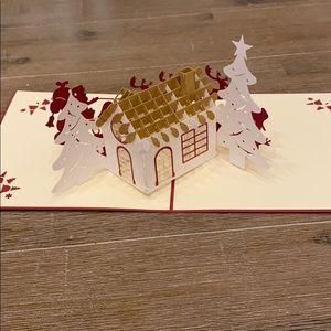 NWT Pop up laser cut greeting card Christmas Santa